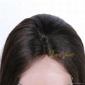 100% Wholesale Virgin  Human Hair silky straight Remy Full Lace Wig 3