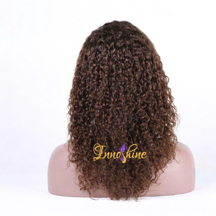 100%Wholesale Good Quality Brazilian Water Wave Human Hair Remy Full Lace wigs 3