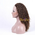 100%Wholesale Good Quality Brazilian Water Wave Human Hair Remy Full Lace wigs 2