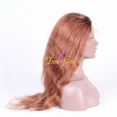 100% Wholesale Indian Best Long Real Hair Natural Wave Hair Remy Full Lace  Wigs