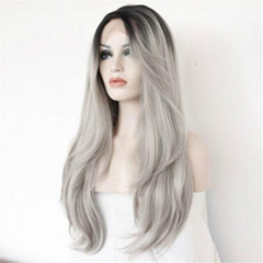 Cheap Good Quality Synthetic Natural Straigh Lace Front Hair Wig
