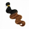 Hot Sale Top Quality two tone color Hair Extensions Indian Remy Human Hair   2