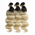 Hot Sale Top Quality two tone color Hair Extensions Indian Remy Human Hair   4
