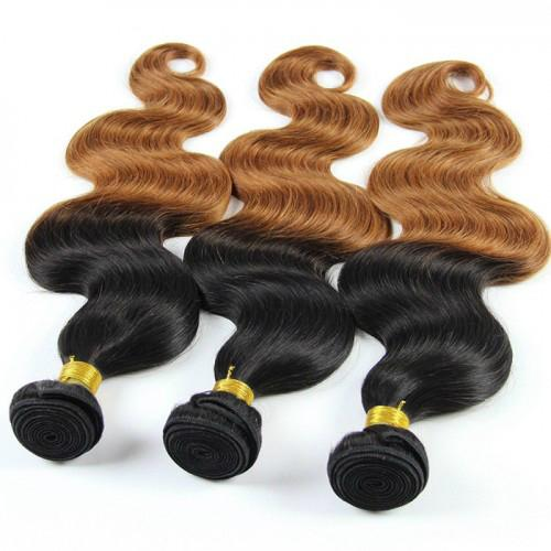 Hot Sale Top Quality two tone color Hair Extensions Indian Remy Human Hair   5