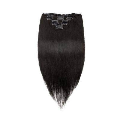 100% Best Hair Extensions Virgin Straight Remy Human Hair Clip in Hair Extension 5