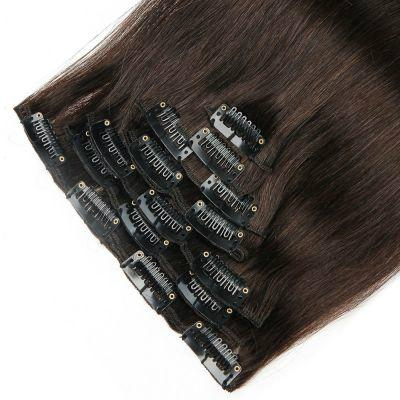100% Best Hair Extensions Virgin Straight Remy Human Hair Clip in Hair Extension 2