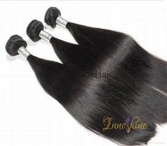 yaki wave human hair weft natural straight human hair waeving