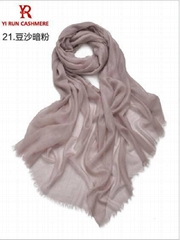300支極致纖薄純戒指絨圍巾