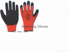 7G Loop Acrylic glove with Latex crinkle