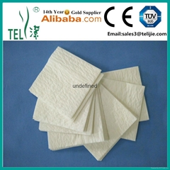 Reinforced scrim surgical hand towels 4 ply