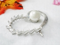 Heart-shaped pearl set auger shoes flower fashionable accessories
