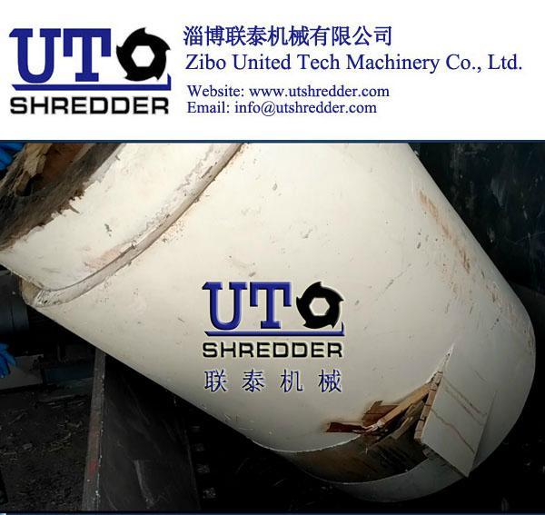 paper barrel shredder, wood drum crusher, package tube shredding 1