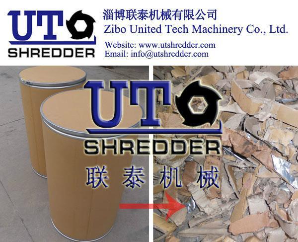 paper barrel shredder, wood drum crusher, package tube shredding 2