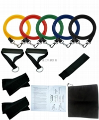 11pcs Resistance Bands With Foam Handles For Yoga Pilates Abs Exercise Tube Work
