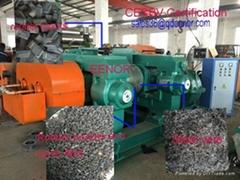 waste rubber and plastic crusher grinder broker