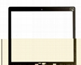 digitizer touch glass panel ORIGINAL for ASUS S400 TOUCH SCREEN WITH FRAME 2