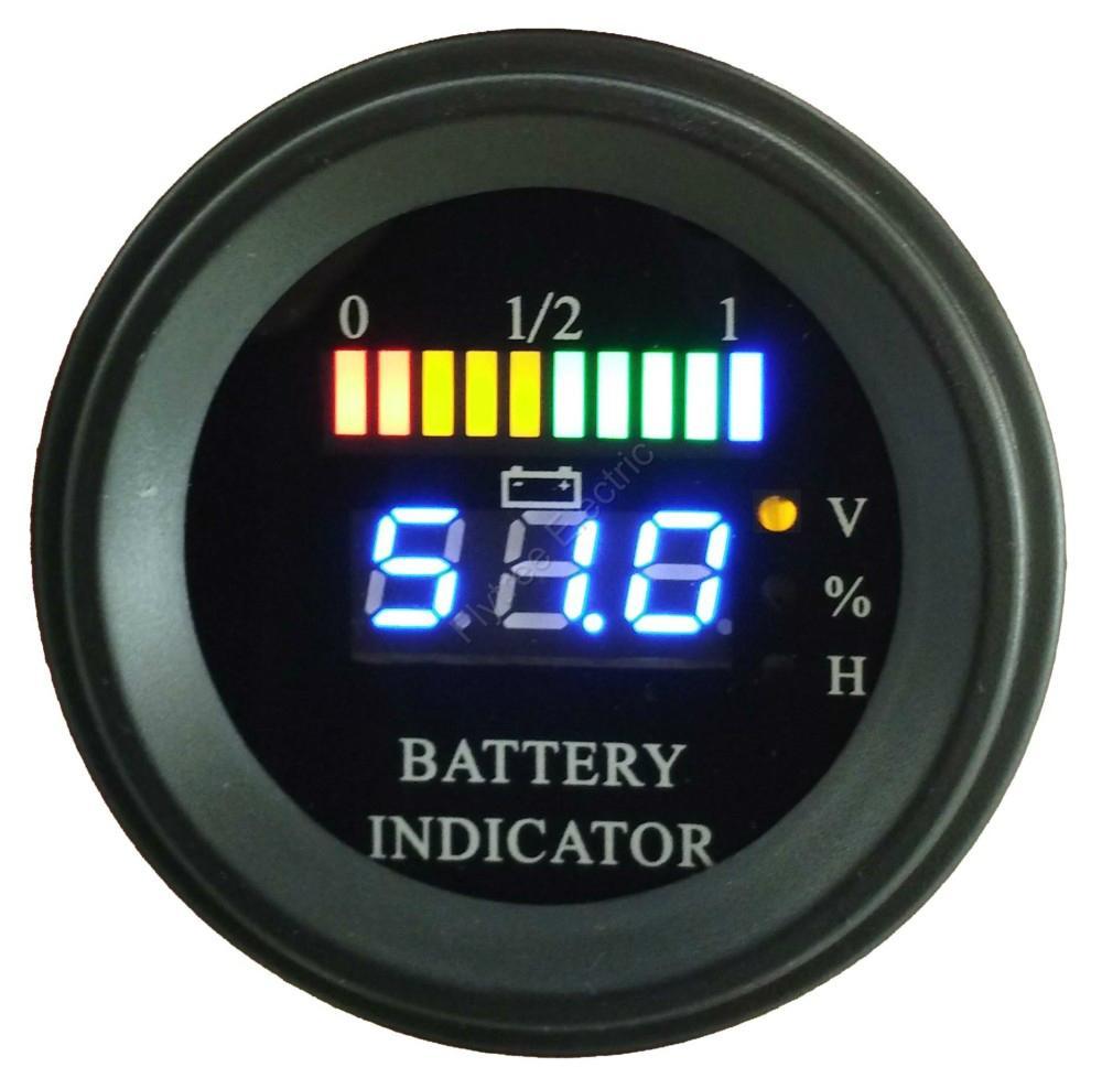 Digital Battery Meter : Round battery gauge bar digital discharge