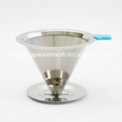 Paperless Pour Over Coffee Maker with stand Stainless Steel Coffee Filter