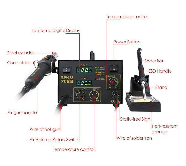 BK-702B Hot Selling Digital Rework Station As Mobile Phone Mainboard Used 4
