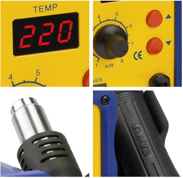 BAKU New Type 700W SMD Heat Gun Rework Station BK 858L 4