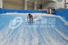 Customized Flow Rider Wave Fiberglass Surfing Machine Amusement  for Water Park