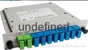 SC/UPC 1分8插片式光分光器 1