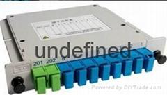 SC/UPC 1分8插片式光分光器