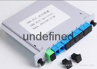 SC/UPC 1分8插片式光分光器 2