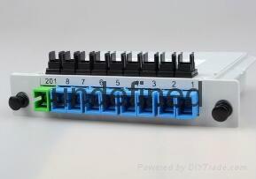 SC/UPC 1分8插片式光分光器 3