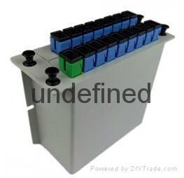 SC接口1分16插片式光分路器 1
