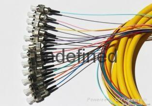 FC头12芯束状尾纤 单模12芯束状尾纤 1