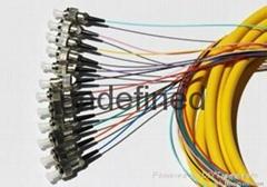 FC头12芯束状尾纤 单模12芯束状尾纤