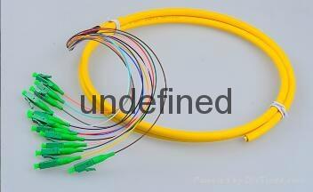 12芯束状尾纤SC/APC1.5米 单模束状尾纤 1