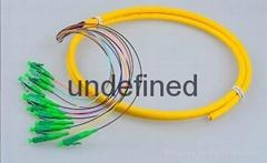 12芯束状尾纤SC/APC1.5米 单模束状尾纤