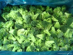 IQF Grade A green frozen broccoli spears cheap price