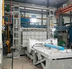 日產40噸蓄熱式燃氣推杆式貫通爐