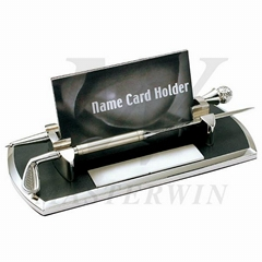 PU/Metal Name Card Holder with Letter Opener and Pen