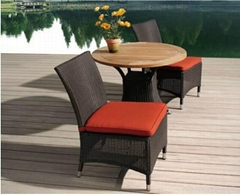 Single Chair And Table Rattan Wicker Aluminum Frame Tempered Glass 5CM Taiwan Ol