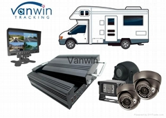 720P 3G 4G GPS Mobile Vehicle Fleet Management System Mdvr HDD SD SSD Storage