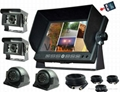 7 inch LCD security Car Rear View 4CH Monitor DVR with 32G SD Card for Van 1