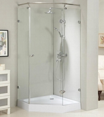 Frameless NEO shower room shower enclosure with stainless steel #304 fixed bar