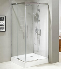 Stainless steel #304 frame sliding tempered glass design shower enclosure