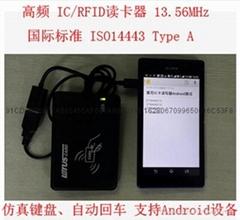 Android IC卡讀卡器 USB免驅IC卡讀卡器 M1讀卡器