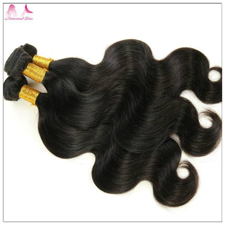 Wholesale 7A Brazilian Remy Hair Double Drawn Body Wave Hair  1