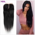 cheap virgin human hair 4*4 lace closure