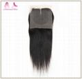 cheap virgin human hair 4*4 lace closure straight hair  4