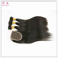 Cheap Price Virgin Hair High Quality Silky Straight Hair Natural Black