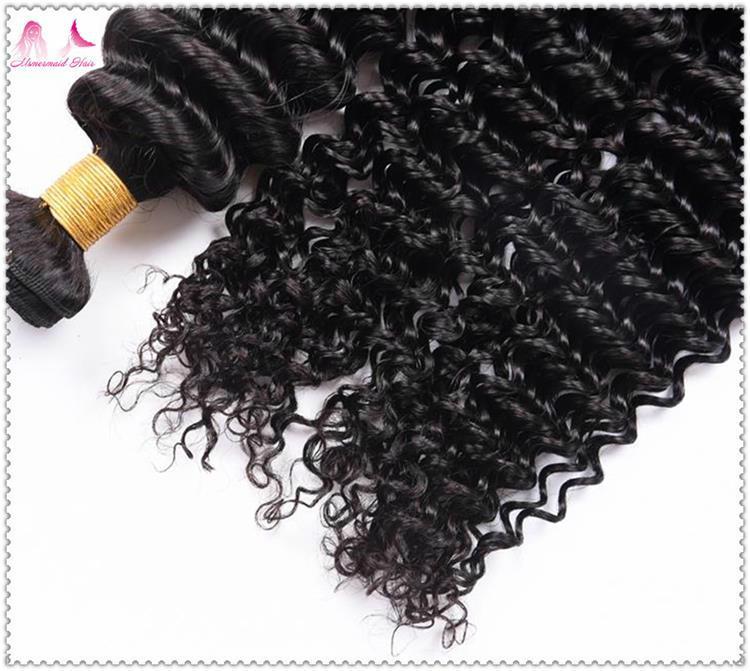 Best Price Virgin Brazilian Hair Top Quality Deep Curly Human Hair Bundles 3