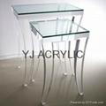 Acrylic side table acrylic furniture