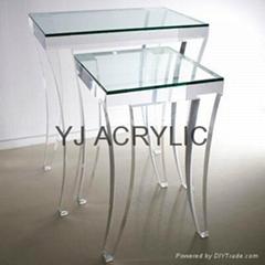 Acrylic side table acrylic furniture acrylic funiture leg